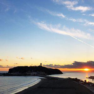 2017/12/28の江ノ島と海