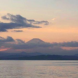 江ノ島からみる富士山