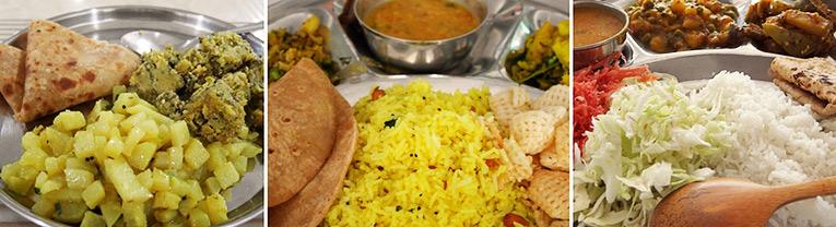 インド合宿時の食事の写真